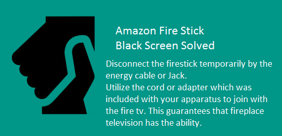 fire stick black screen