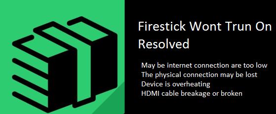 firestick wont turn on