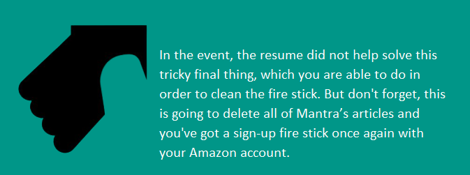amazon fire stick not working