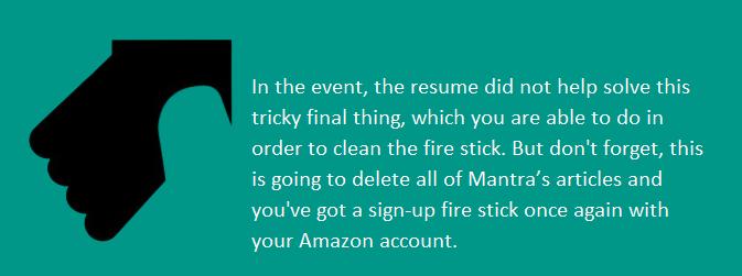 amazon fire stick not working