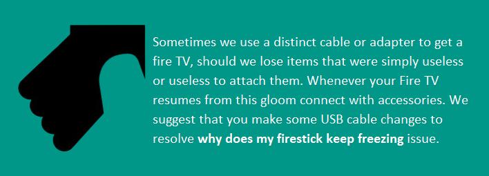 how do i unfreeze my amazon fire stick