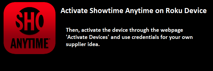 Activate Showtime Anytime on Roku Device