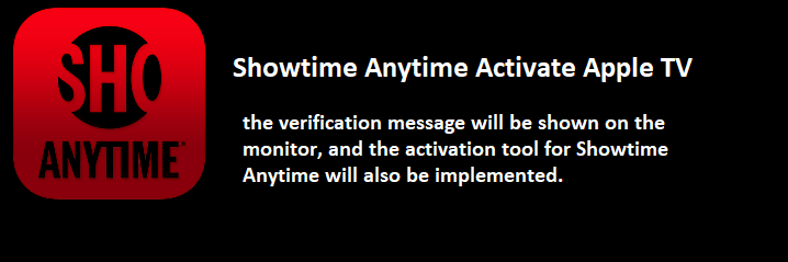 Showtime Activate Apple TV Code