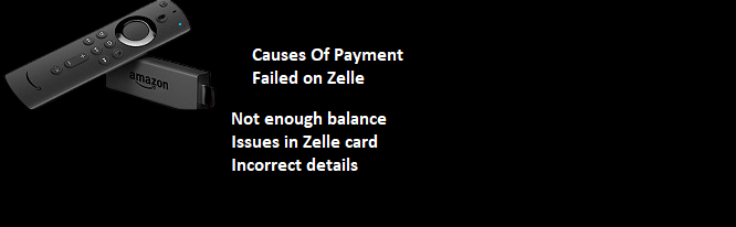 zelle payment failed
