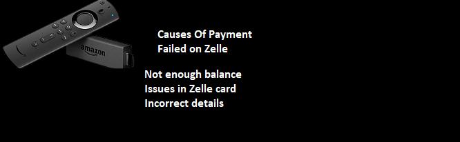 zelle payment failed