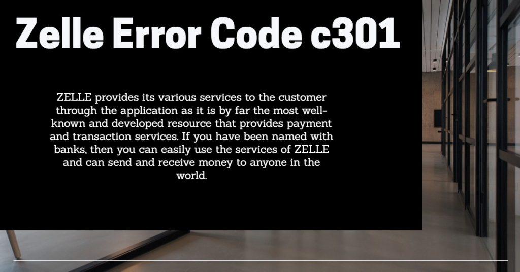 Zelle Error Code c301