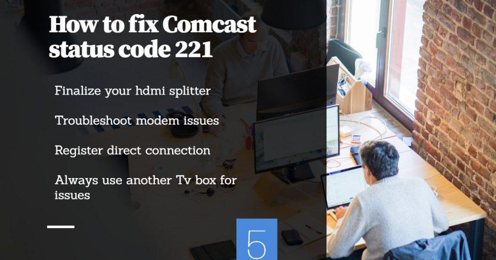 Comcast Status Code 221