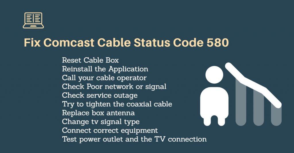 Comcast status code 580