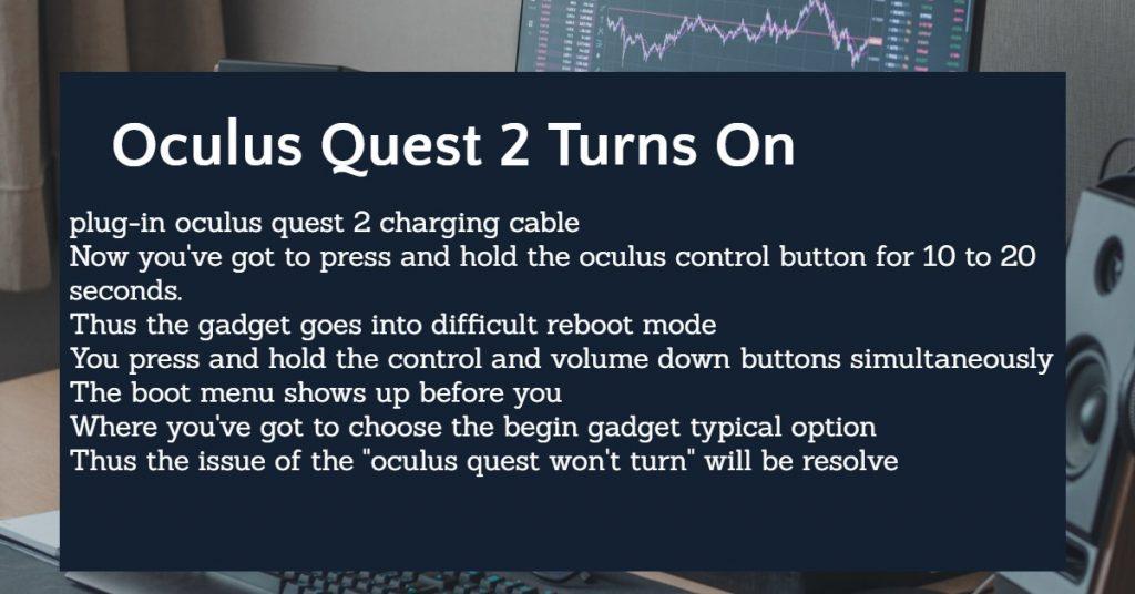 oculus won't turn on