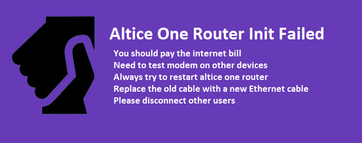 altice one router init failed