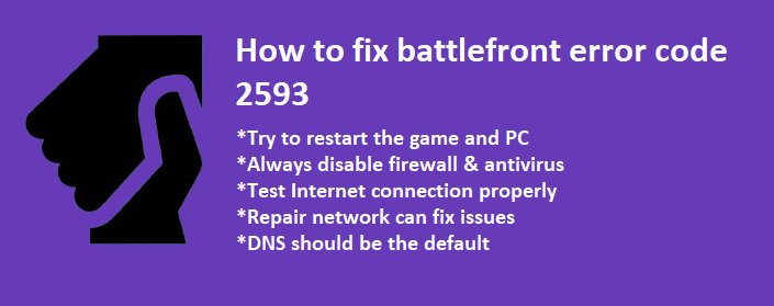 battlefront error code 2593