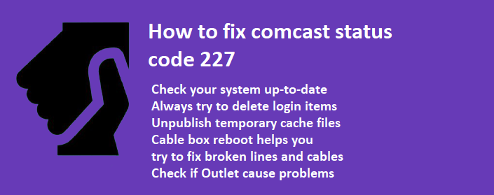 comcast status code 227