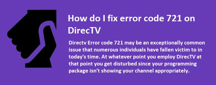 error code 721