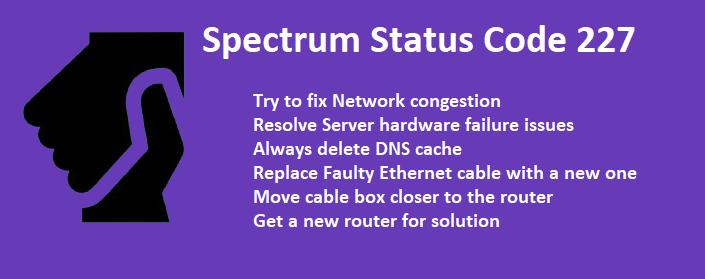 spectrum status code 227