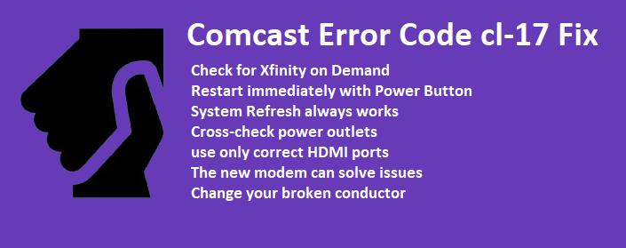 comcast error cl-17